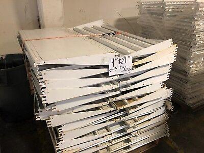 Gondola Store Shelving 48 X 21.5 White 56 Available Used
