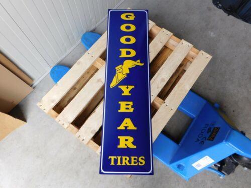 GOODYEAR Tires Garage Dealer - XL Genuine Porcelain Enamel Sign  37.5 x 10 Inch