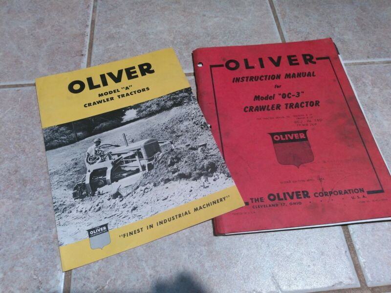 Oliver OC-3 Crawler Tractor Instruction Manual For Serial #350 0000 And Up