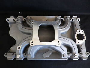 HOLDEN 253 - 308 4 BARREL ALUMINIUM LOW RISE INTAKE MANIFOLD SATIN FINISH