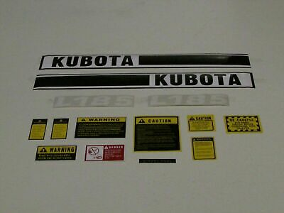 Kubota L185 Tractor Decal Set With Caution Decal Kit