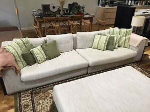 4 seater lounge and over sized ottoman Newcastle Newcastle Area Preview