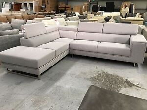 """All New """"Webster"""" Smoke Fabric Corner Sofa Epping Whittlesea Area Preview"""