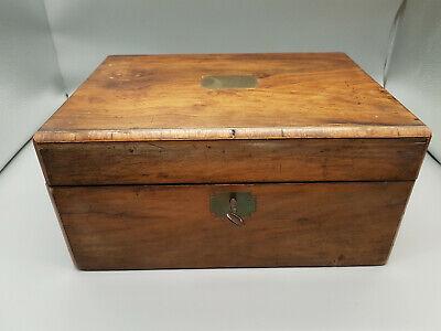antique mahogany writing box with key, nice patina, good condition