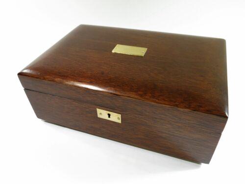 Repurposed & Restored Antique Solid Mahogany Cigar Humidor — Green Felt Lining