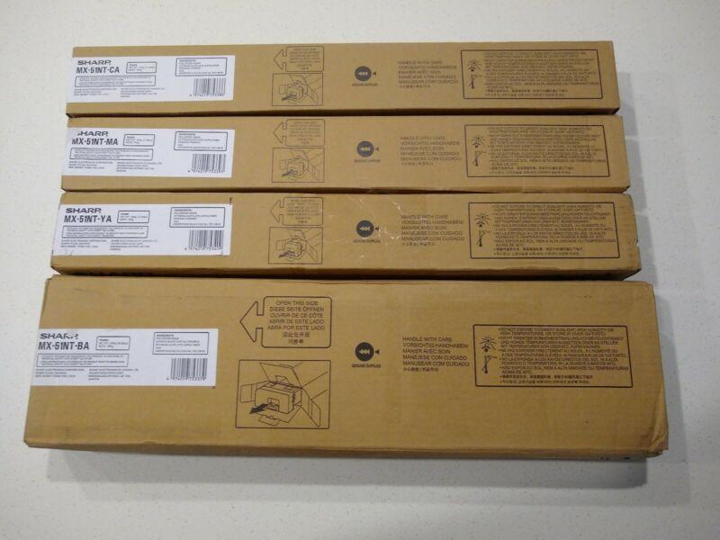 Genuine Sharp MX-51NT CMYK Complete Toner Set