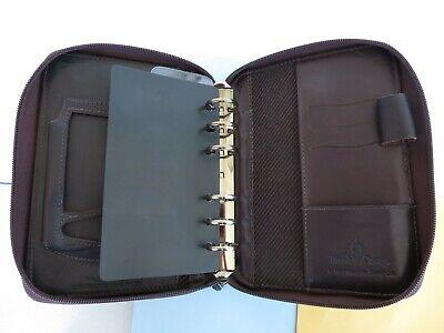 Pocket78 Rings Full-grain Leather Franklin Covey Planner Binder Brown Zip Usa