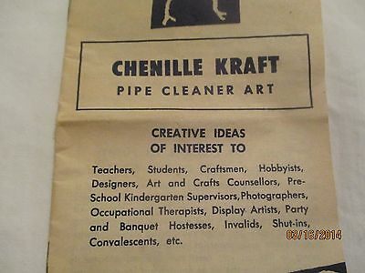 Chenille Kraft Pipe Cleaner Art Brochure Pamplet 16 pages
