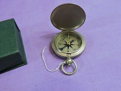 Vintage Plated Pocket Compass in Presentation box