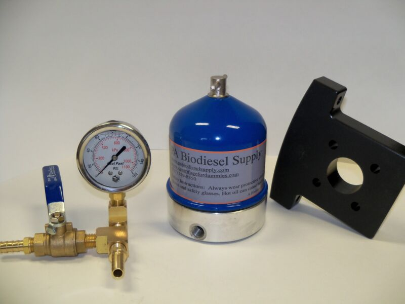 55 GPH CENTRIFUGE w/BRASS, GAUGE and BRACKET for WVO /OIL and BIODIESEL