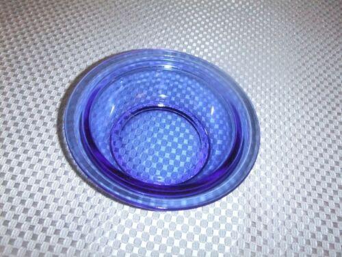 """Depression Glass Cobalt Blue """"Modertone"""" Berry Bowl"""