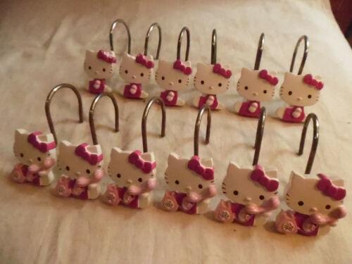 Hello Kitty Shower Curtain Hooks 12