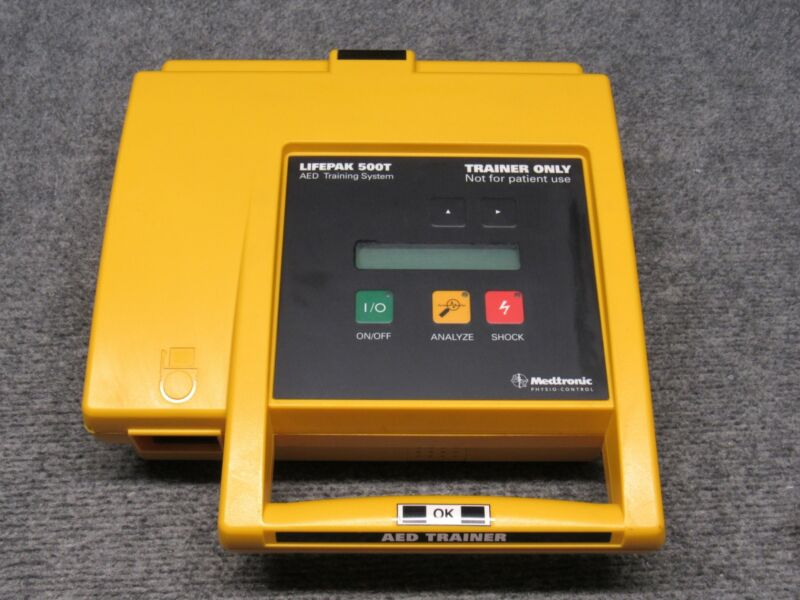 Medtronic Lifepak 500T AED Defibrillator Automated Training System *Tested*