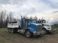 Full time dump truck drivers required