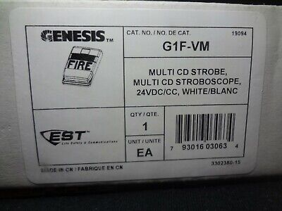 New Est Edwards G1f-vm Multi Cd Strobe Fire Alarm 24vdccc White Free Shipping