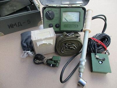 Military Geiger Counter Dosimeter Imd-5 With Sbm-20 Sts-5 Si3bg Tube Set