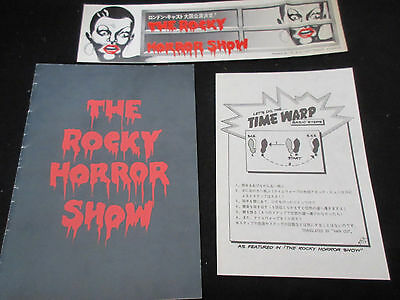 Rocky Horror Show Japan Signed Concert Program Book  w Flyer Ziggy Byfield Glam