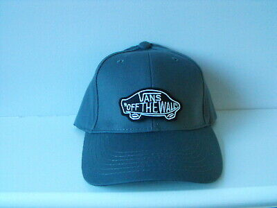 "Baseball Cool GREY Peak Cap + Street ""VANS-OTW"" BlackWhite  Embroidered Patch"