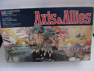 AXIS & ALLIES 1984 GAMEMASTER COMPLETE MILTON BRADLEY WAR GAME