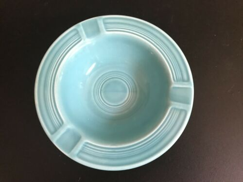 Vintage Homer Laughlin Fiesta Ware Original Turquoise Ashtray