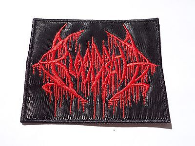 BLOODBATH EMBROIDERED LOGO BRUTAL DEATH METAL PATCH