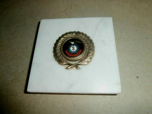Vintage Marble Paperweight Blood & Fire Salvation Army Emblem