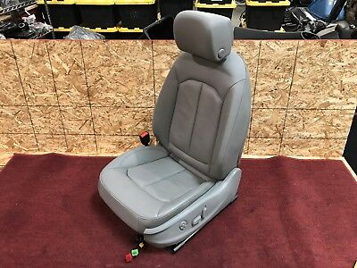 15 18 AUDI A3 S3 8V LEFT FRONT DRIVER LEATHER SEAT ASSEMBLY GRAY WITH AIRBAG