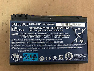 Laptop Battery for Acer Aspire 3690 5100 3100 3102 5610 5515 5610Z BATBL50L6