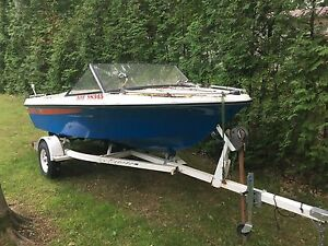 15 FT SUNRAY Boat 140hp motor - Trailer included