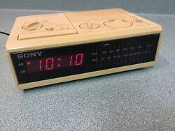 Vintage Sony Dream Machine Digital Alarm AM FM Clock Radio ICF-C2W Red LED - EC