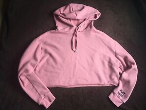 Pink woman's crop sweater