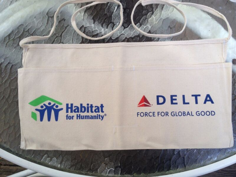"DELTA ""HABITAT FOR HUMANITY"" CANVAS WAIST BIB / TOOL POOCH - NEW"