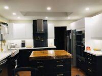 Ikea kitchen installation, save %40 , full kitchen reno