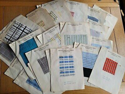 26 Vintage Textile Sample Sheets 1930s -1940s British Man-Made Fibres Federation