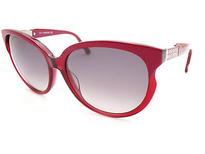 Swarovski Damen Sonnenbrille Weinrot mit Gold und Kristallen SK0081 71T