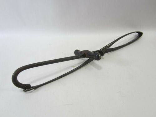 Antique Guarded Blunt Hook & Crochet Fetal Destruction w/Ebony Grip  M#219