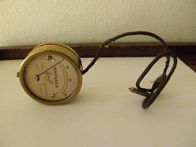Vintage Hoyt 0-35 Amp Brass Meter No.1