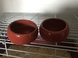 Small pet food/water dishes