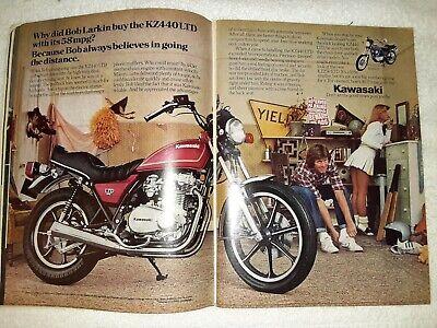 1980 Kawasaki KZ440LTD Motorcycle, Vintage Photo Ad