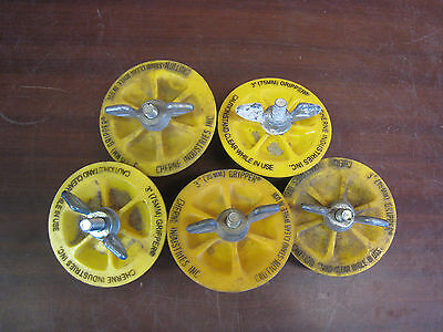 Lot Of 5 Cherne 3 Gripper Plumbing Test Plugs Free Shipping