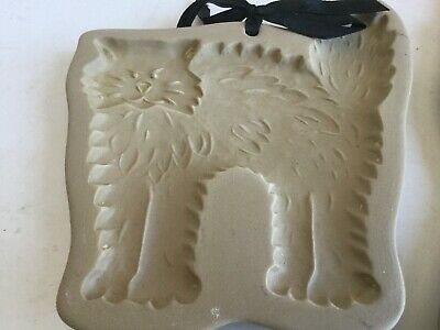 VTG Brown Bag Cookie Art Pottery Craft Mold 1988 Hill Design Halloween Cat