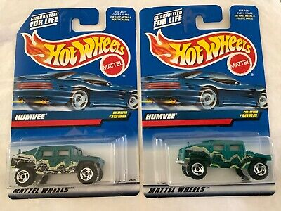 Hot Wheels Humvee/Hummer #1080 with variations Two car lot Humvee fan must have!