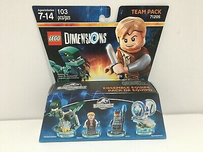 New Lego Dimensions 71205 Jurassic World Team Pack Owen Velociraptor Gyrosphere