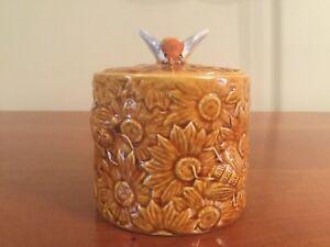 Vintage Secla Portugal Honey Bee Design Honey Pot