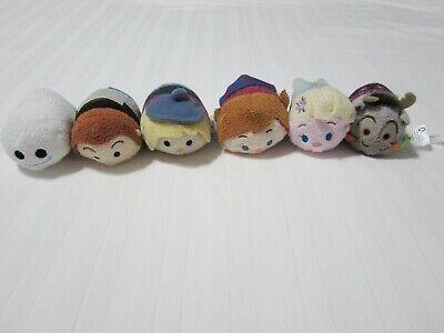 """Set of 6 Disney Tsum Tsum Frozen Plush Stuffed Toys 3 1/2"""" EUC"""