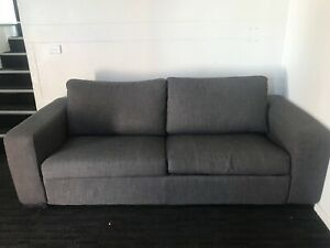 2.5 seater fabric sofa bed only 12 months old, 7 yr guarantee
