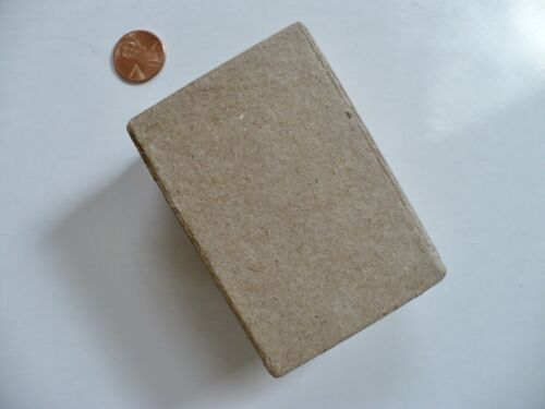 "Paper Mache 3 3/8""  X 2 3/8""  X  1 1/2"" DIY Craft Decorate Box Rectangular NWOT"