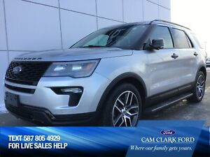 2018 Ford Explorer SPORT 400A 3.5L AWD with Remote Start