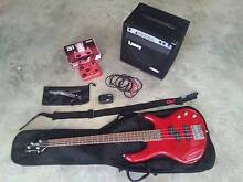 Cort Bass Guitar & amp, comes with bag,stand,strap, tuner & pedal Duncraig Joondalup Area Preview