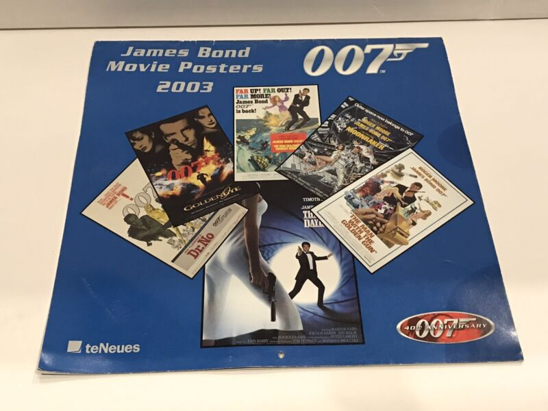2003 James Bond 007 Movie Posters Calender -teNeues (A4)